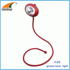 LED goose-neck any direction reading lamp high power book light table lamp 3*LR44 cell button battery LED night light