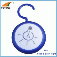 1LED touch lamp 15 000MCD push lamp hook light home emergency light cabinet night light 3AAA battery CE RoHS quality