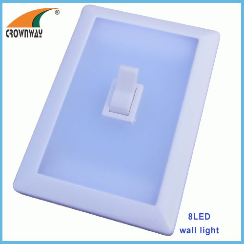 8LED clip light 15 000MCD high power wall mounted home night light 3AAA battery sticker lamp emergency and cabinet light