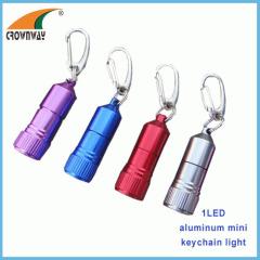 LED keychain light 15 000MCD super bright 3*LR41 incl mini pocket lamp indoor and outdoor emergency lamp keyholder light
