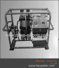 Chemical injection system oil and gas well