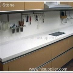 Pure White Quartz Stone Kitchen Counter