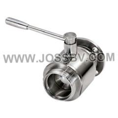 Sanitary Stainless Steel Ball Valve Flange
