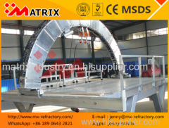 Kiln relining refractory brick lining machine / for kiln maintenance
