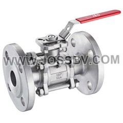 3PCS Ball Valve Flanged End With Direct Mounting Pad ASME 150LBS