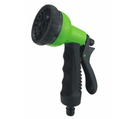 Plastic water spray nozzle with soft grip