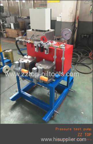 Wellhead pressure test pump