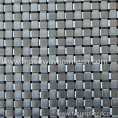 Rigid stainless steel mesh in elevator