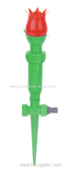 Plastic backyard water sprinkler for irrigation