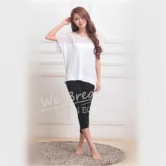 Apparel & Fashion Shirts & Blouses White Bamboo Fiber Seamless Summer Breathable T-shirt Blouse Home Wear Girls