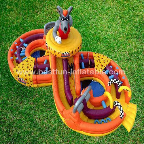 Camouflage Inflatable Rat Race Obstacle Course