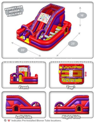 Design MILLENNIUM inflatable SLIDE  OBSTACLE