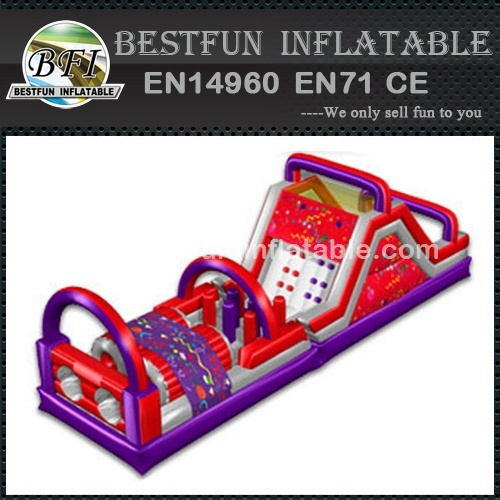 Obstacle course equipment inflatable