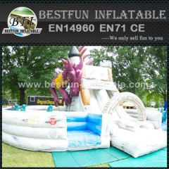 Fire Dragon Inflatable Obstacle Course