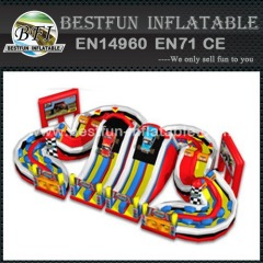 Inflatable racing car obstacle course
