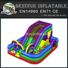 Wacky Colorful Inflatable Bouncer with Slide Combo