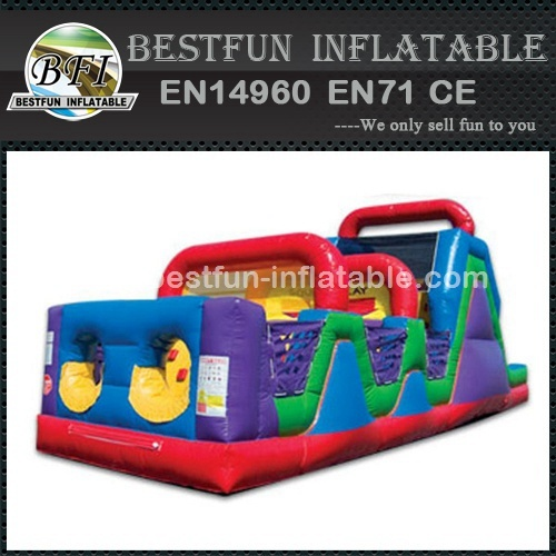 Wacky obstacle course inflatable