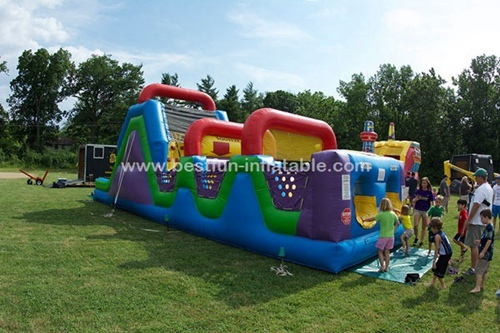 Inflatable Wacky Wild Obstacle Course