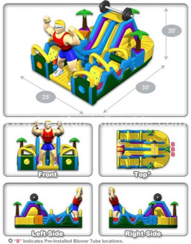 Ironman juegos adult inflatable obstacle course