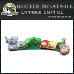 Jungle themed crawl inflatable