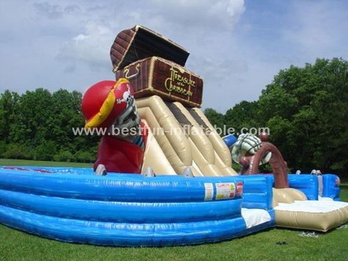 Pirates of the Caribbean and Inflatable Treasure Chest Obstacle Course
