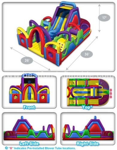 PVC Chaos Inflatable Obstacle Course for kids