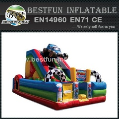 Inflatable combo bounce slide Racing Cars
