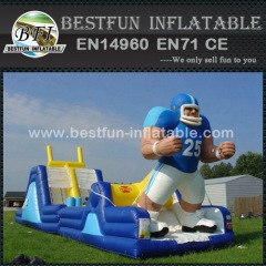 Inflatable slide and obstacle course in one rugby