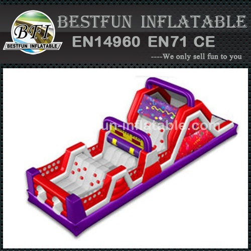 TOP design biggest inflatable obstacle course