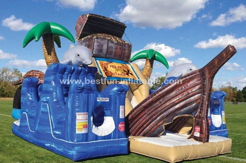 Treasure Island inflatable obstacle course