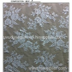 160cm White Polyester Bridal Lace Fabric(W7219)