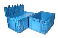 Plastica Stack contenitore in grigio