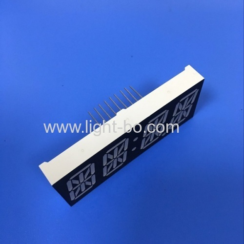 Custom Design ultra blue 0.87  4 digit 14 segment led display common anode for clock indicator