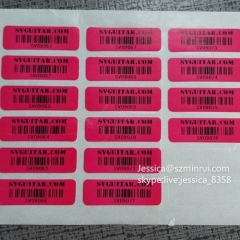 Wholesale Fragile Sticker Barcode Label Custom Self Adhesive Sticker Non-removable Packaging Label