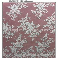 W5324 White Embroidered Wedding Dress Lace Fabric (W5324)