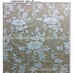 White Polyester Wedding Dress Lace Fabric (W5286)