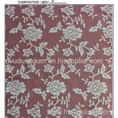 W5101 Flower Design And Polyester White Bridal Lace Fabric (W5101)