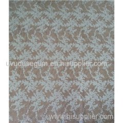 White Bridal Embroidered Tulle Lace Fabric(W9024)