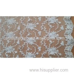 Lace Embroidery On Mesh Thread Lace Fabric (W9022)