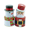 Snow Man Tin Box Christmas Tin Gift Box