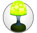 Mushroom shape projector lamp with 4 color for choose