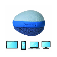 Double Sided Microfiber egg shaped screen scruber