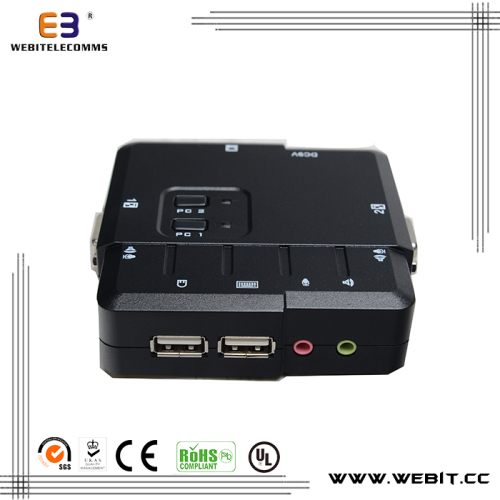2 ports USB series desktop KVM switch
