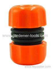 "Plastic 1/2"" garden hose mender to repair defective hose."