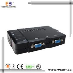 4 ports plastic VGA console