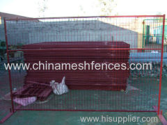 powder coated Canada temporary fence red PVC coated Canada temporary panel
