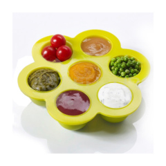 Silicone Multiportion gel food ice Storage tray