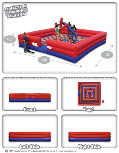 4 Man Joust Tug War inflatable interactive game