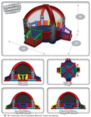Defender dome inflatable sports games