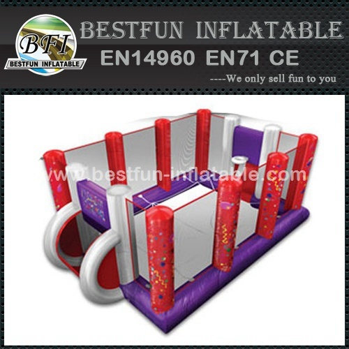 Basket inflatable interactive games